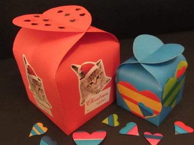 Como hacer una caja corazón (San Valentín). Heart box.