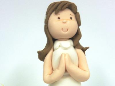 Cómo modelar una Muñeca de comunión para poner en la tarta con fondant