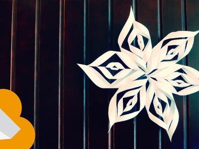 """Copo de nieve estrella de papel """"Snowflake Star"""""""