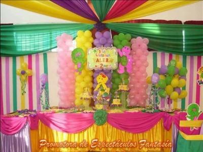 Decoraciones para fiestas infantiles con promotora de espectaculos fantasia