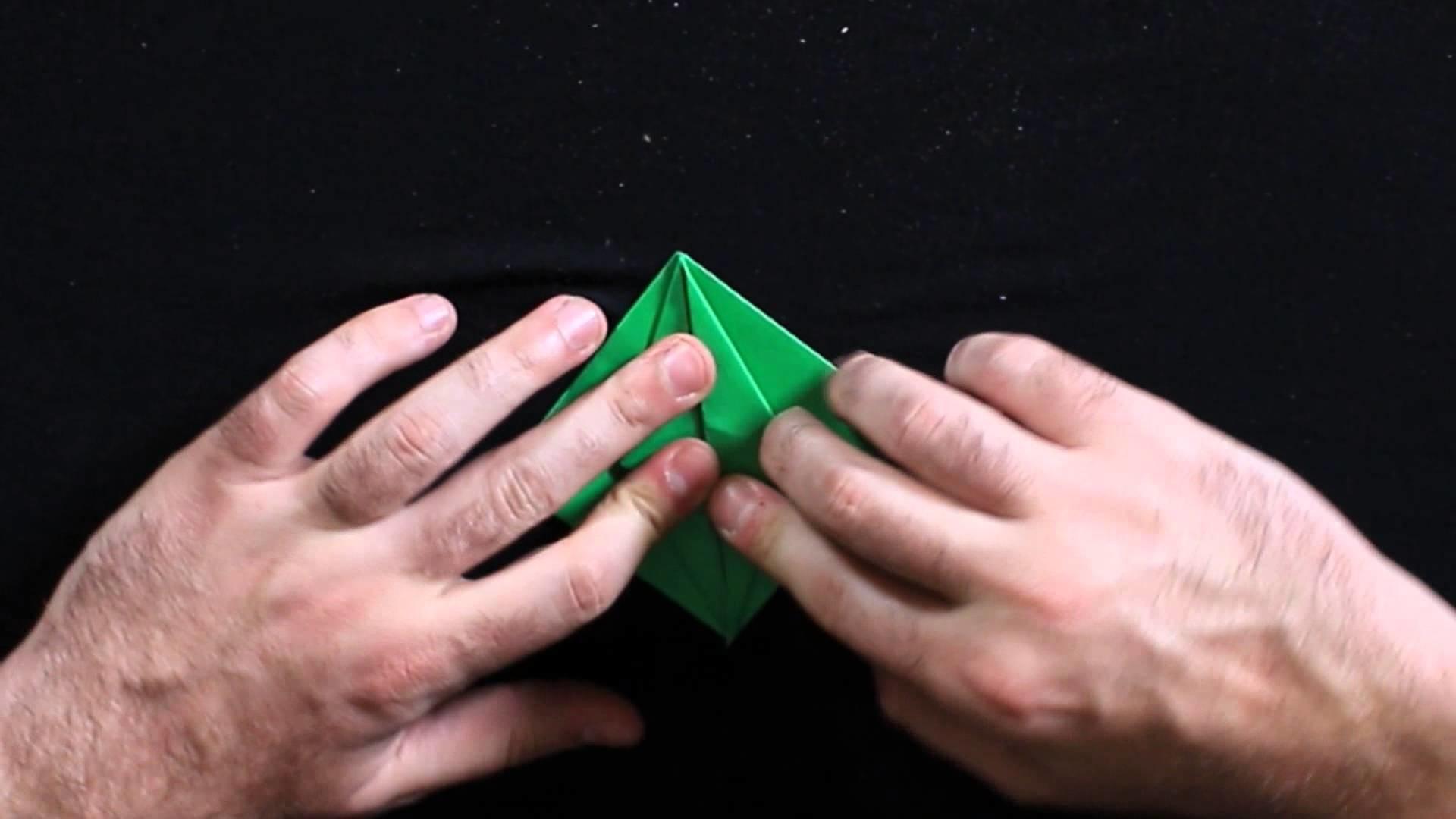 Diablito inflable de origami