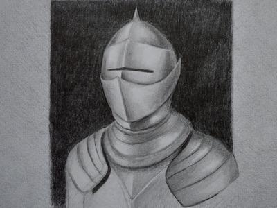 Dibujando metal: cómo dibujar una armadura - Arte Divierte.