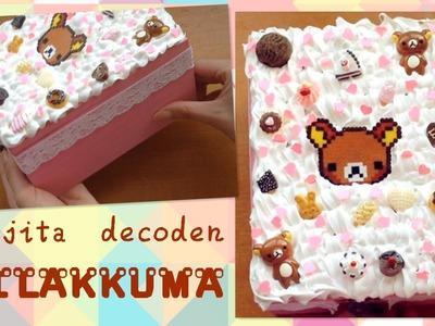DIY ♥ Cajita kawaii decoden rosa de Rilakkuma