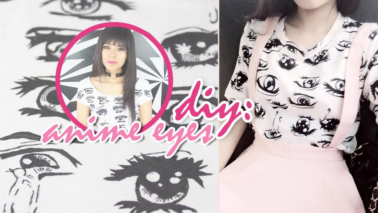 DIY: Camisa Anime | Anime Eyes T-shirt