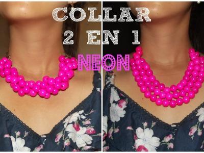 DIY- Collar 2 en 1 muy fácil y rapido