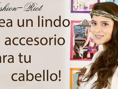 DIY Crea un lindo accesorio para el cabello (Corona-Diadema de cadenas y perlas)