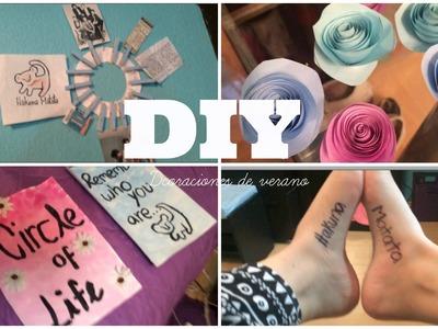 DIY- Decoraciones de verano + tatuaje temporal ♡