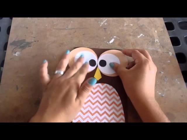 DIY Graduacion bolsas para regalo Buho)
