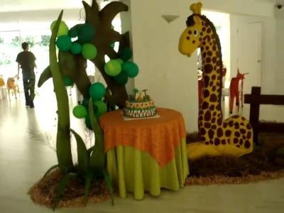 FIESTA TEMATICA SAFARI-LA JUNGLA MARZO 6-2011  INGRESO SALON ,RINCON PARA LA TORTA