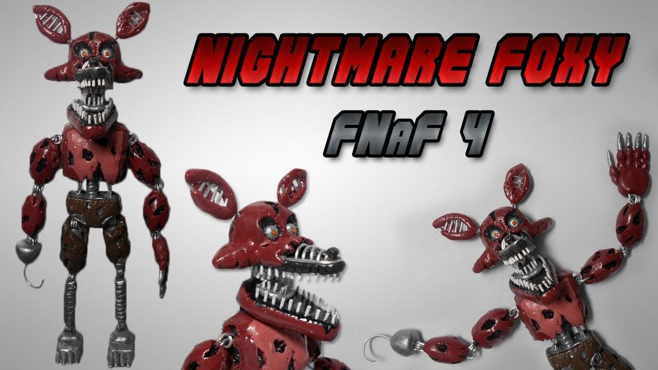 FNaF 4 | Nightmare Foxy Posable Clay Tutorial | Plastilina - Articulado