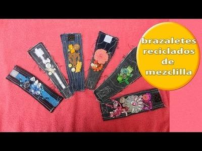 HAZLO TU MISMA: BRAZALETE DE MEZCLILLA RECICLADA