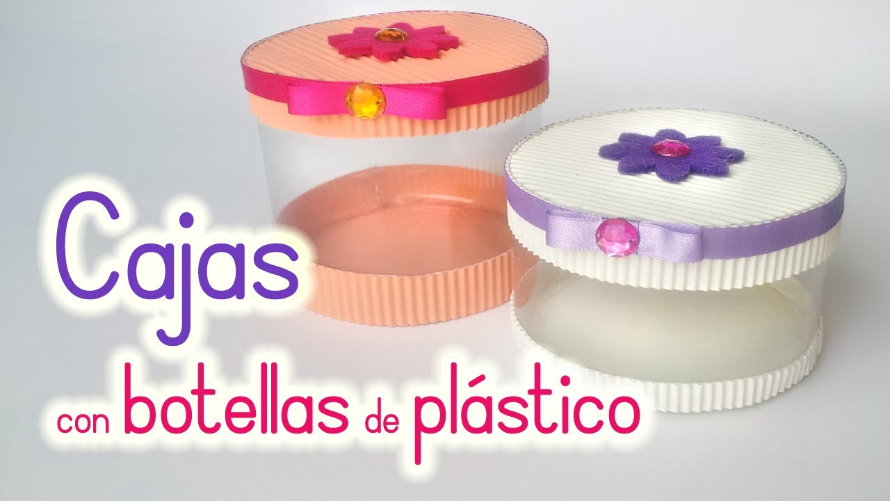 Manualidades: CAJAS con BOTELLAS de Plástico - Reciclaje - Innova Manualidades