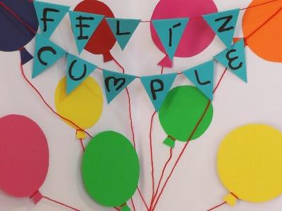 """Manualidades para regalar - Tarjeta """"Feliz Cumpleaños"""" - Manualidades para todos"""