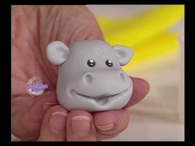 Mirta Biscardi - Bienvenidas TV - Hipopótamo para la Torta del 1er añito