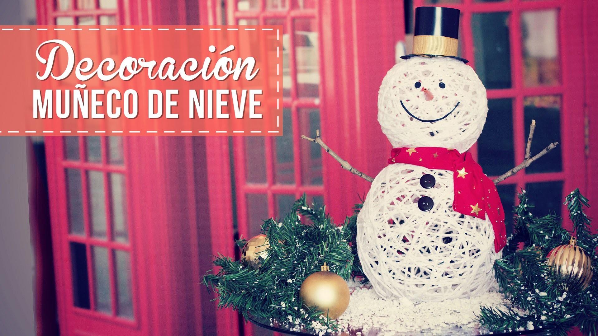 Muñecos de nieve para decorar, muy fáciles! -Anie