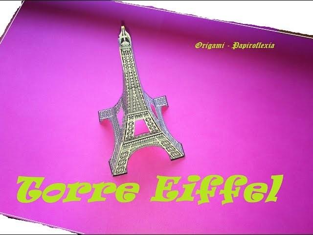 Paper Toys. Origami - Papiroflexia. Torre Eiffel en 3D