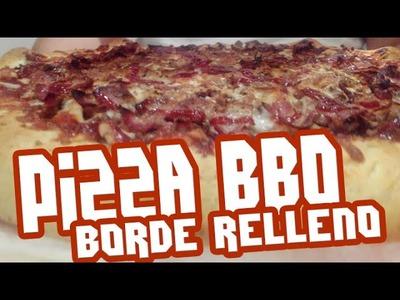 Pizza Barbacoa con Borde Relleno Hacendado en Español | TeamRandomPlay