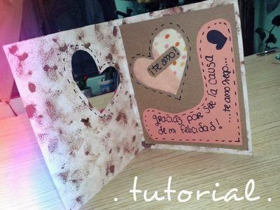Tarjeta para mi novio! ♥ • •[ fácil de hacer ] • •