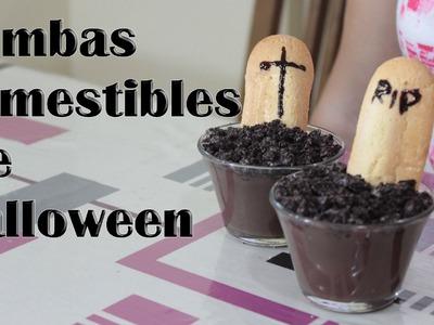 Tumbas comestibles para Halloween, Manualidades Fáciles
