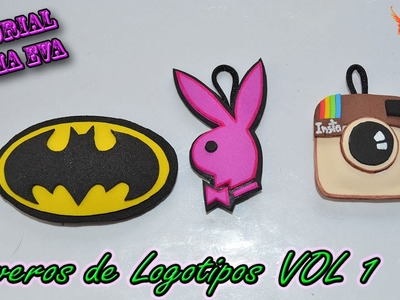 ♥ Tutorial: Llaveros de Logotipos de Goma Eva (Foamy) VOL 1 ♥