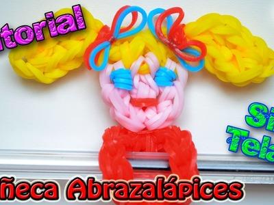 ♥ Tutorial: Muñeca abrazalápices de gomitas (sin telar) ♥