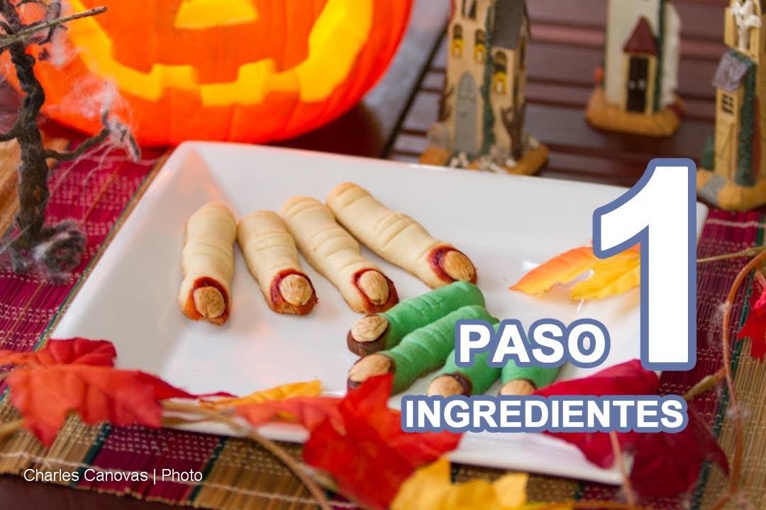 PASO a PASO Horripilantes Dedos de Bruja Dulces y Galletas para Halloween