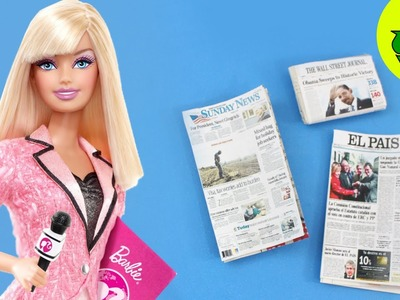 Cómo hacer periódicos  para tus muñecas - Manualidades para muñecas