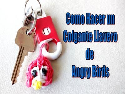COMO HACER UN COLGANTE LLAVERO DE ANGRY BIRDS CON GOMITAS DE CAUCHO.FACIL Y RAPIDO