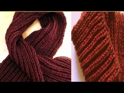 Cómo Tejer Bufanda para Hombre- Knit a Scarf for Men-1a.Parte 2 Agujas (153)