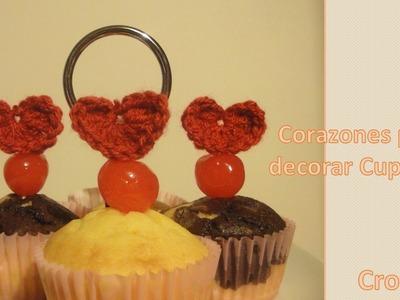 Cómo hacer corazón crochet (ganchillo) – Decorar Cupcakes