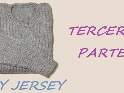 Cómo tejer jersey de hombre, 3a de 3 partes