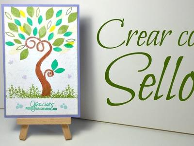 Creando una postal solo con sellos #1| Cardmaking | Mundo@Party
