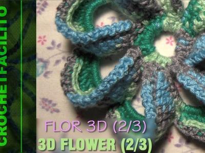 CROCHET - FLOR 3D (2.3) - 3D FLOWER (2.3)