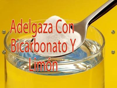 Bicarbonato con limón para adelgazar
