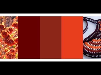 Bolsas Tejidas con anillas: Ideas para combinar los colores. Ideas to combine colors