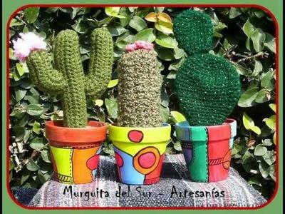 CACTITOS II (Cactus tejidos)