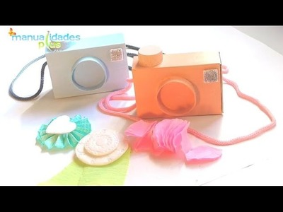 Camaras de Fotos con Cajas de Fosforos para Dulceros Souvenirs Manualidades con reciclaje