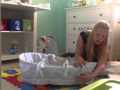 Como decorar el moisés para nuestro bebe paso a paso
