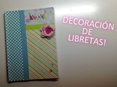 Cómo decorar una libreta (femenina) MANUALIDADES CON LUNA [episodio 5]