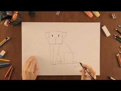 Cómo dibujar un perro : Dibujos de la Naturaleza