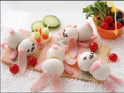 Cómo hacer conejitos hechos con cáscara de huevo
