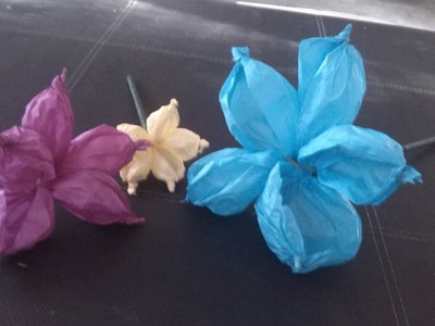 Como hacer flores de papel china (fácil)