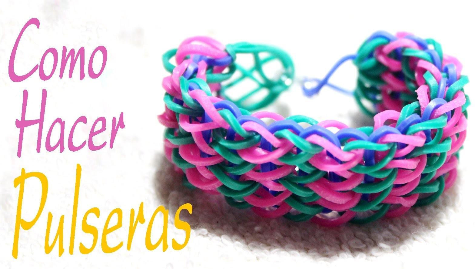 Como hacer pulseras de goma - pulseras de goma rainbow - bracelets