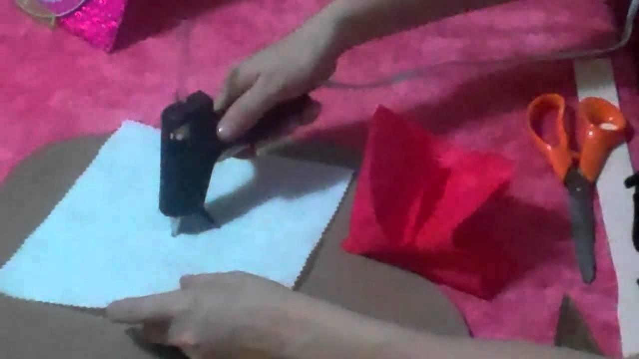 Como hacer un arreglo de regalo para cojin.  Manualidades San Valentin-14 febrero