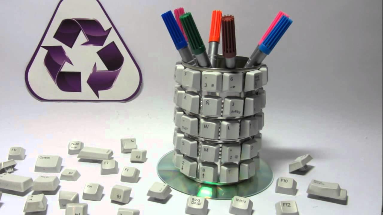 Cómo hacer un porta lápices reciclado. Pencil holder.