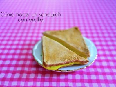 Cómo hacer un sandwich con arcilla polimérica para muñecas