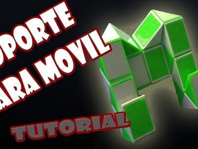 Como hacer Un Soporte Para Moviles con Rubik Snake(Serpiente).Twist Rubik´s