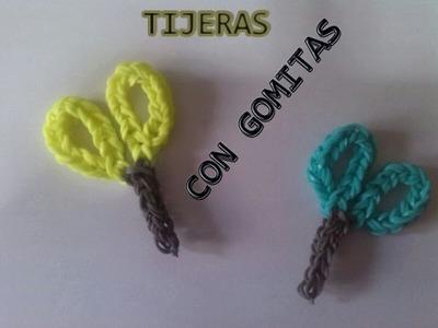 COMO HACER UNAS TIJERAS CON GOMITAS (LIGAS) CON TELAR.