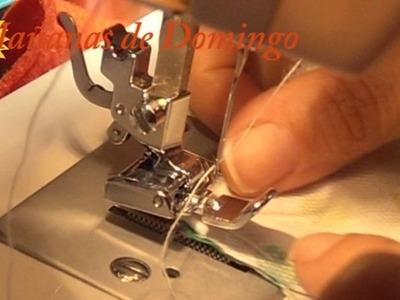 Coser un vivo a máquina con prensatelas de cremallera