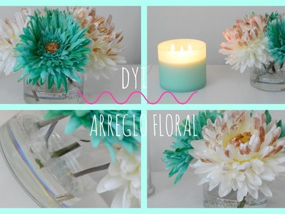 Decora Conmigo ♡ | DIY Arreglo Floral con Agua de Acrilico